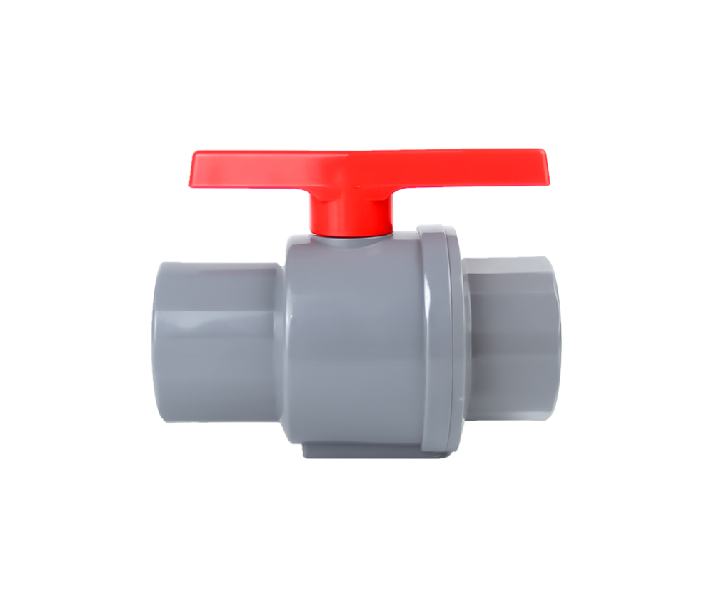 Light Gery High Quality Factory Direct Supply Two Pieces Ball Valve