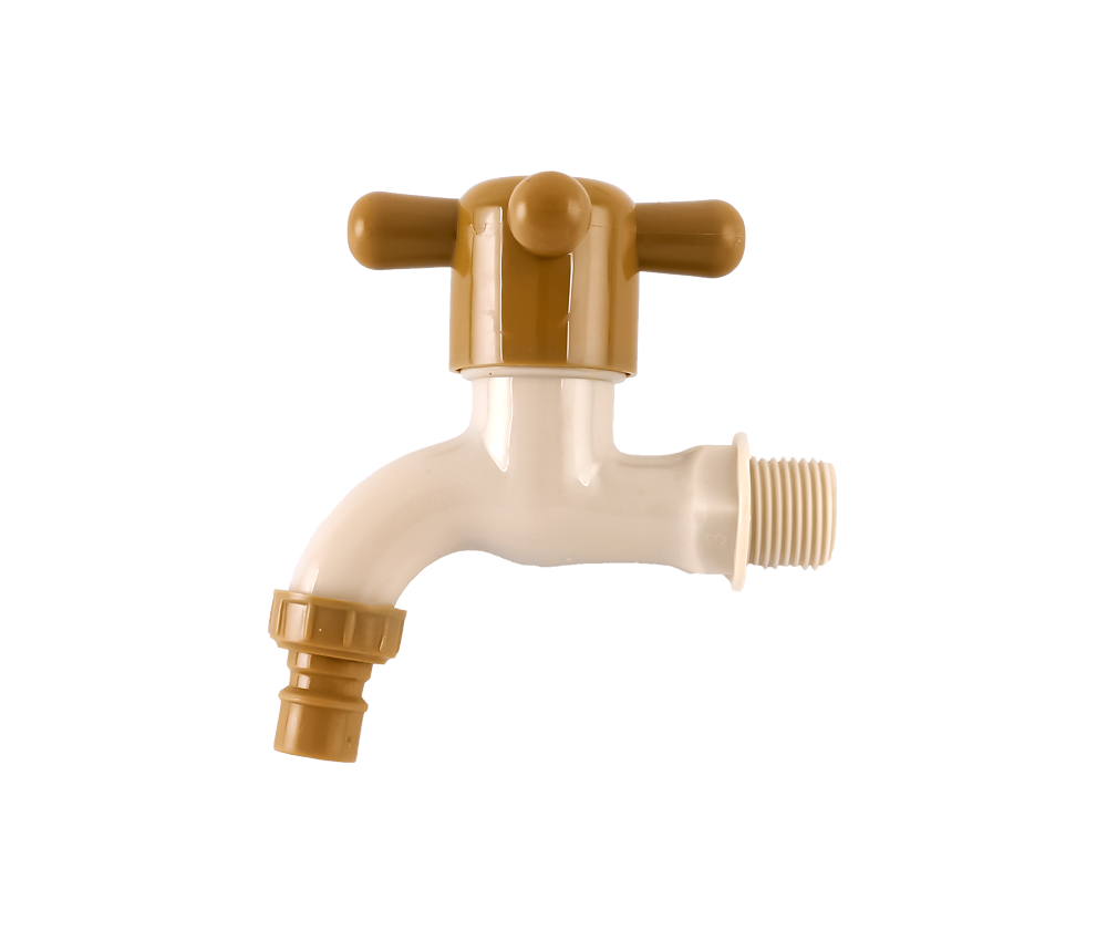 Yellow and White ABS Handle Plastic Faucet Tap For Water