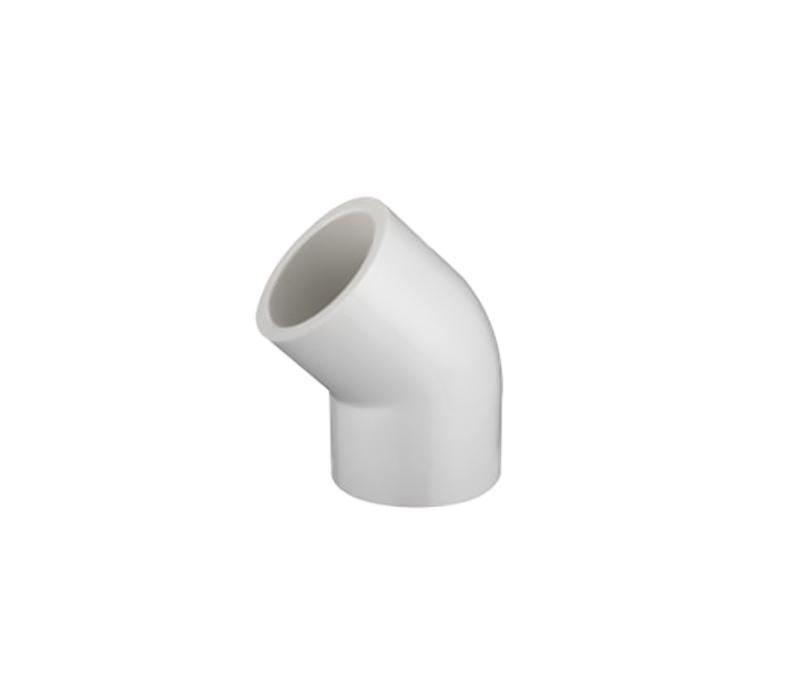 45 Deg Elbow PVC ASTM D2466 SCH40 Pipe Fittings