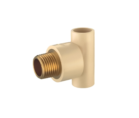 Male Tee (Copper Thread) CPVC ASTM D2846 For Hot And Cold Water Sistribution System