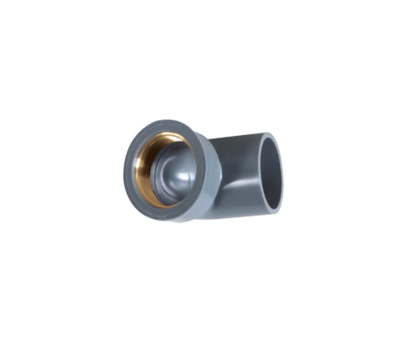 90° Copper Thread Elbow(female elbow) - PVC Din Standard PN10 Water Supply Fittings