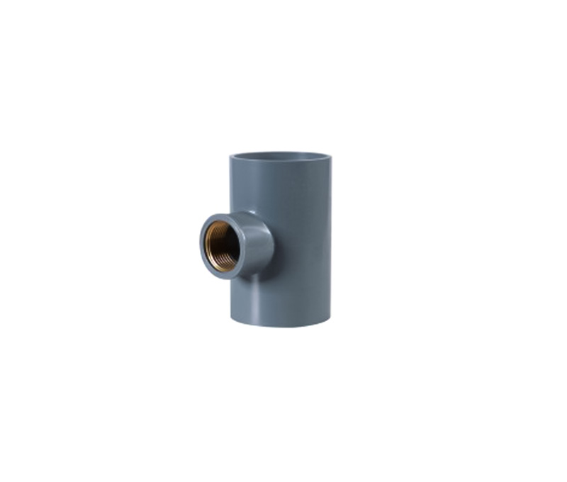 Copper Thread Tee(female tee) - PVC Din Standard Pn10 Water Supply Fittings