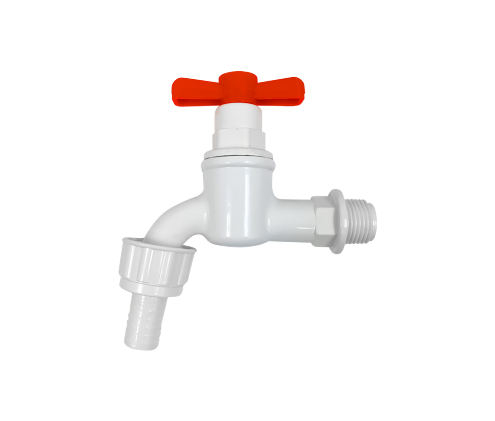 Red Hand Plastic PVC Water Tap